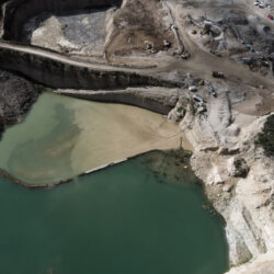 Mining site from above